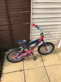 Excellent condition Spider-Man bike with bell