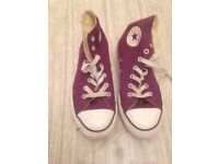 Converse Chuck Taylor All Star Hi Youth UK 1.5 Purple Sneakers
