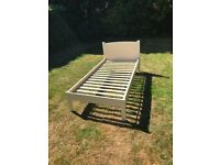 Boys or girls single bed in cream wood