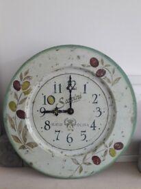 Roger Lascelles 'Olive' Tin Clock