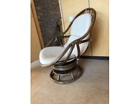 FLASH SALE - Rocking Chair with cane frame and beige cushion, in good condition