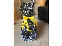 Dog Birthday Gift Hamper Basket with Beer, Toys & Treats