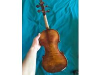 Handmade Full Size Violin, Guarneri 1742 Copy, great sound!