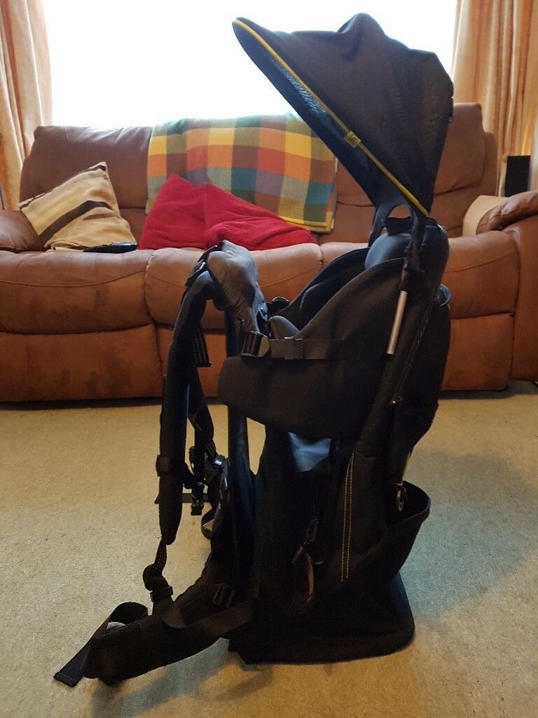 Mothercare Deluxe Frame Baby Carrier Black Backpack Style In