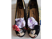 Irregular choice mickey mouse shoes size 6