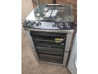 Black silver gas cooker 55cm. Mint free delivery