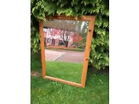 Large Vintage Nordic Pine Mirror - Very Good Condition