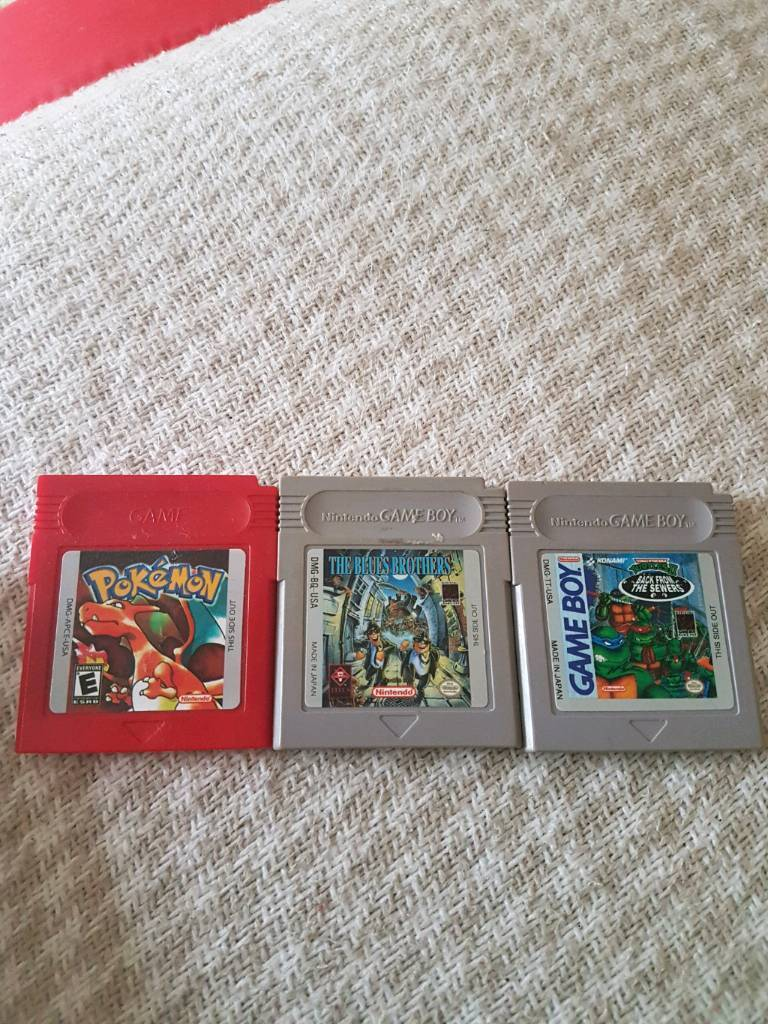 Pokemon red, blues brothers and ninja turtles for gameboy