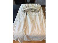 Cream lined curtains (pair)