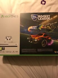 Xbox one s rocket league bundle (new and unopened).