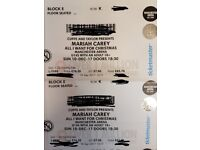 2 x Concert Tickets for Mariah Carey Christmas Show at Manchester Arena 10.11.17 Block E £160.00