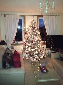 Stunning 6 Foot Snow Christmas Tree