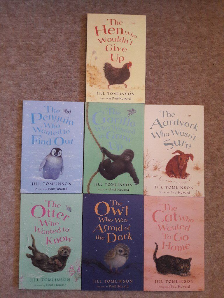 7 Favourite Animal stories by Jill Tomlinson, excellent condition, age 6 - 9 approx, kids books