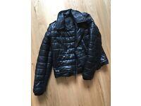 Alexander wang x H&M black leather jacket size xs 32