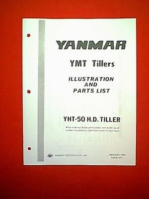 YANMAR TRACTOR TILLER ATTACHMENT MODEL YMT YHT-50 H.D. TILLER PARTS MANUAL for sale  Shipping to India