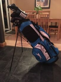 Full golf set for sale. Perfect for the beginner. Clubs, bag, trolley.