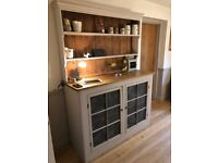 Large traditional painted kitchen dresser