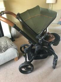 Egg buggy - Forest Green with matching change bag