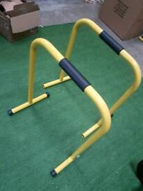 Pair Parrellette dip bars for body weight gym training