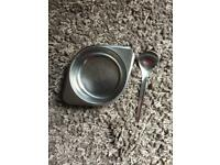 Stainless Steel Bowl & Spoon.