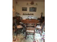 Old Charm Priory Oval dining table and 6 chairs FREE