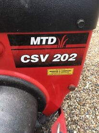 The 24-202 self propelled chipper vac has a 5.5 hp Briggs & Stratton engine