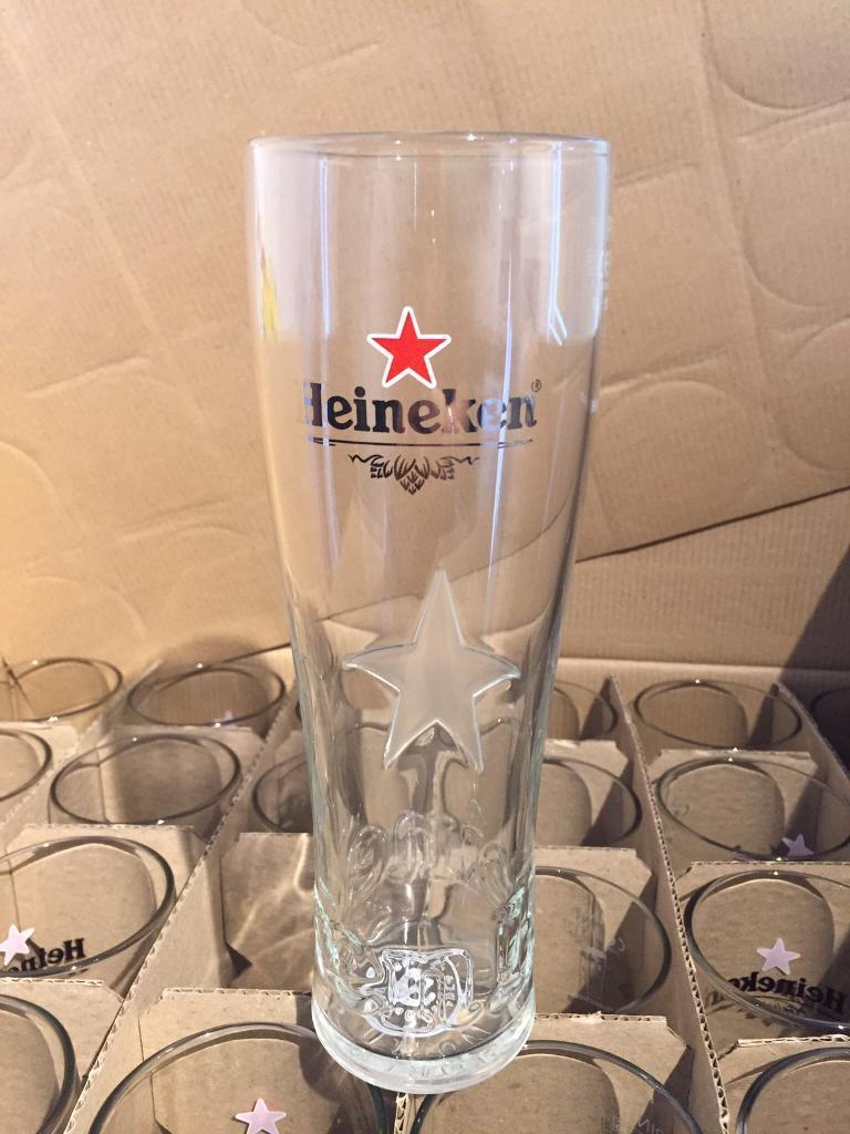 Heineken Pint glasses x24