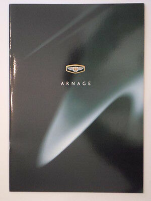 BENTLEY ARNAGE 4.5 LITRE 1998 Large Format Prestige Glossy Sales Brochure
