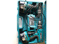 MAKITA 18 VOLT TWIN DRILL AND IMPACT DRIVER SET