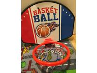Basket ball net and ball