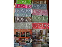 11 x Homes and Gardens Magazines [2011 issues]. Great for ideas!
