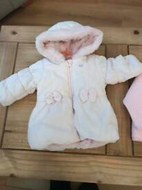 2 girls jackets 3/6 months. £5 for both