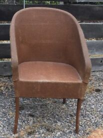 Loyd loom style chair vintage 1950s