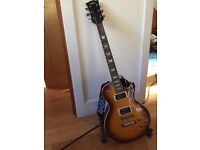 Aria Electric Guitar with Amp, stand & case