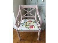 Newly Upholstered Chair Floral Fabric