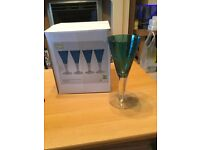 Set of 4 Blue Glasses