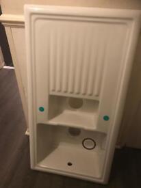 Ceramic inset sink kitchen sink white