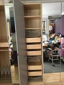 Ikea wardrobe ( single ) & ( double ) 236cm mirror door