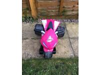 Pink ride on electric quad for toddlers