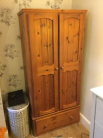 Handmade Cherry wood stained wardrobe - good condition