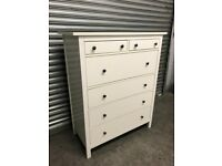FREE DELIVERY IKEA HEMNES WHITE CHEST OF SIX DRAWERS GOOD CONDITION