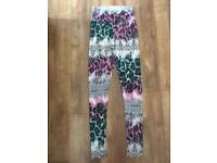 Colourful leopard print leggings size 6