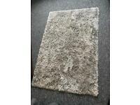 Silver/Grey fluffy rug