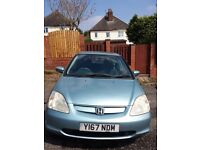 Honda Sivic SE 1.4 petrol,very good condition,Reliable,cheap to run,family car