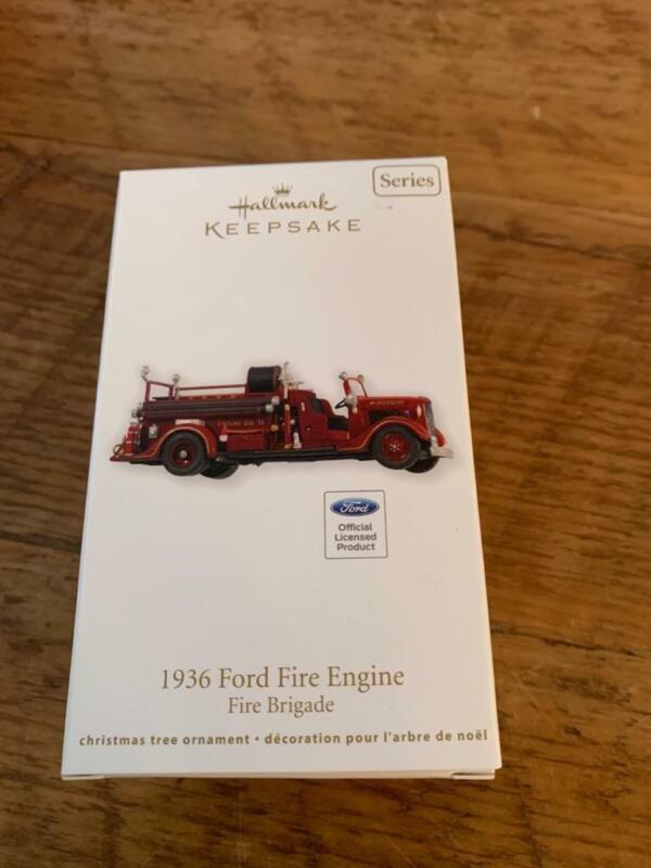 Hallmark Keepsake Ornament 2012 1936 Ford Fire Engine Brigade #10 Series 10th