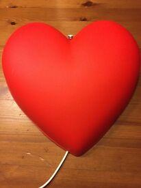 Ikea Heart wall light