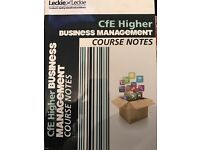 CfE Higher Business Management Couse Notes