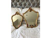 2 antique style mirrors