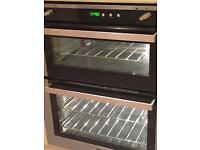 Double gas integrated oven and hob