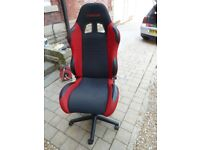 R EVOLUTION Race Seat - Red Black. Computer Office Chair Gaming Sport.